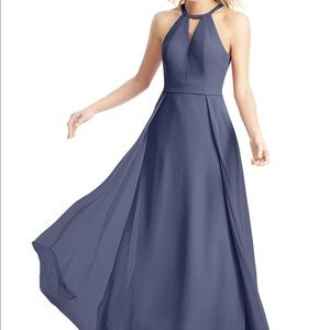 Azazie Dresses - Azazie Melody Stormy Blue Dress